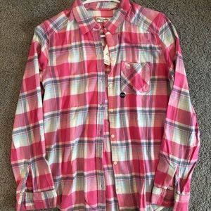 """Abercrombie & Fitch pink button down shirt """"NWT"""""""